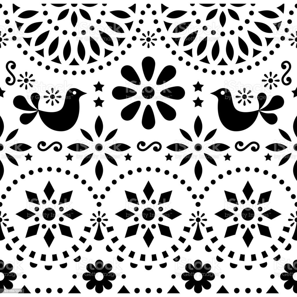 Seamless Scandinavian Nordic Design Graphics Vector Folk Art Stripe