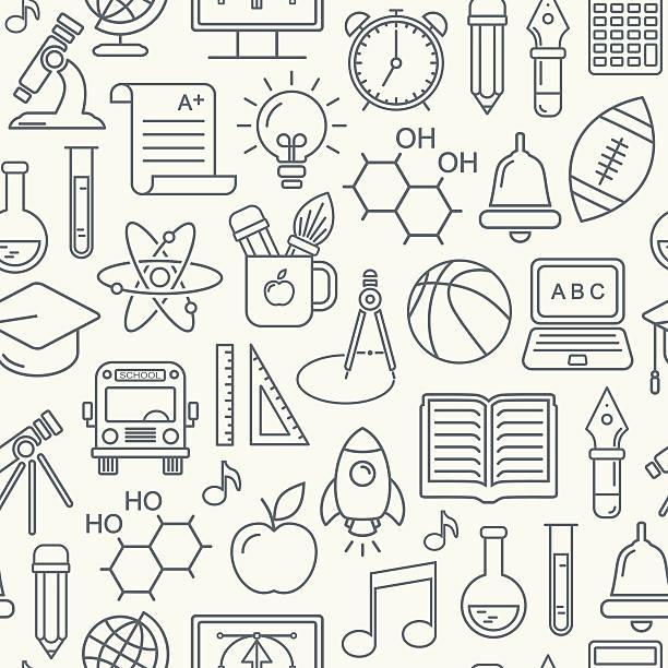 Seamless school and education background – Vektorgrafik