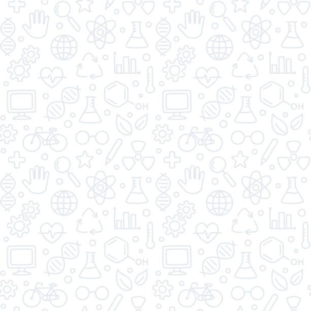 nahtlose wissenschaft muster - naturwissenschaftsunterricht stock-grafiken, -clipart, -cartoons und -symbole