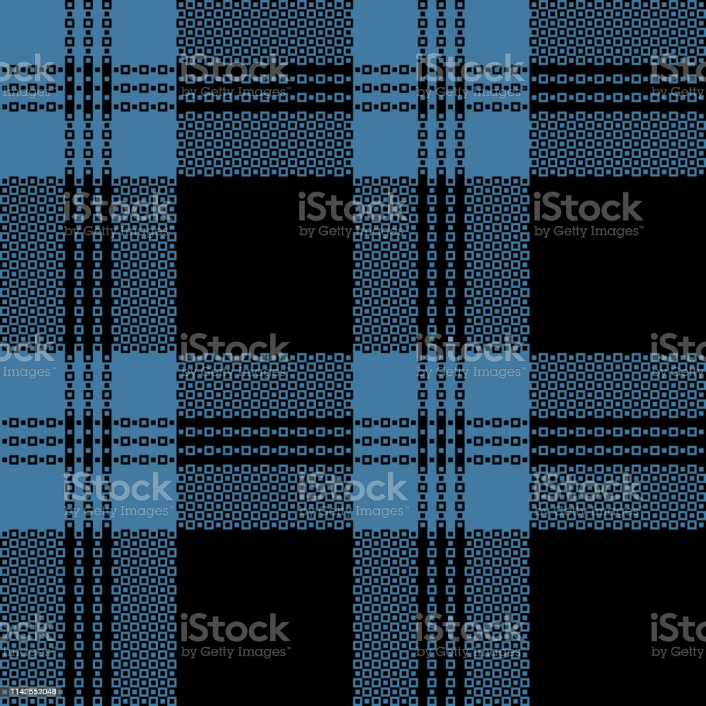 Seamless Scottish check plaid pattern vector for textile print in...