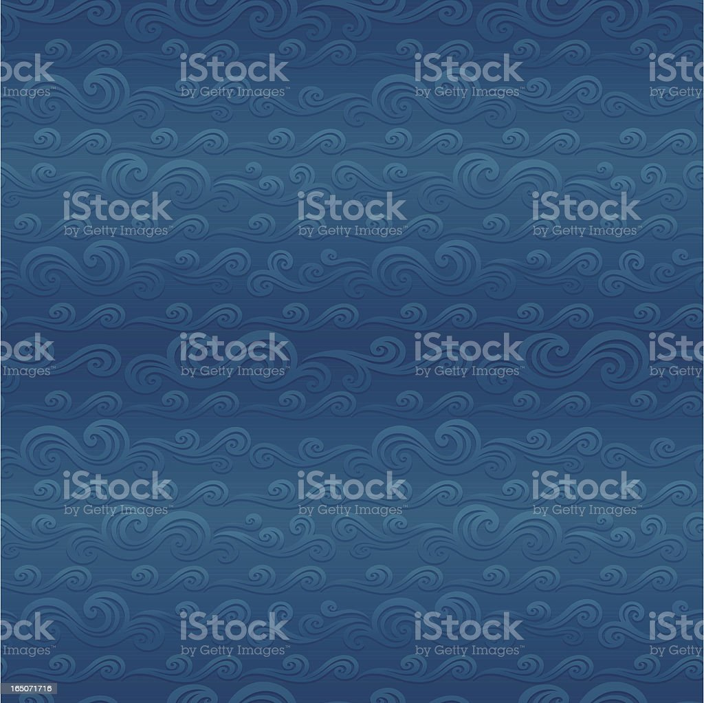 Seamless scroll waves pattern background royalty-free seamless scroll waves pattern background stock vector art & more images of arts culture and entertainment