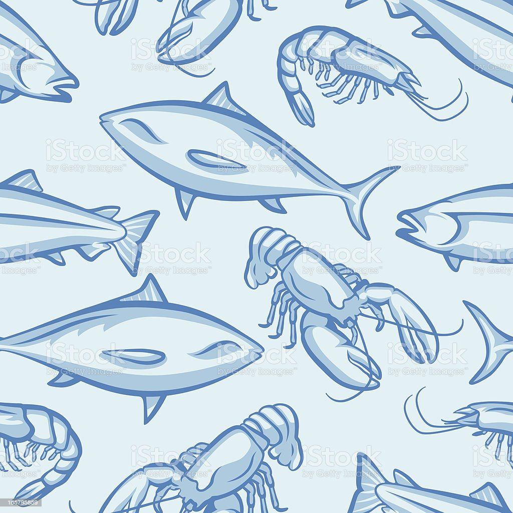 Seamless Seafood royalty-free stock vector art