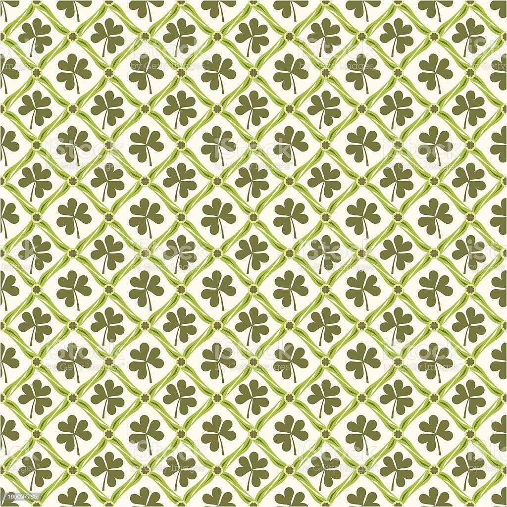 Seamless Shamrock Wallpaper ( Vector ) vector art illustration
