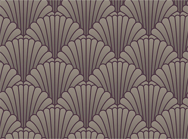 Seamless shell wallpaper vector art illustration