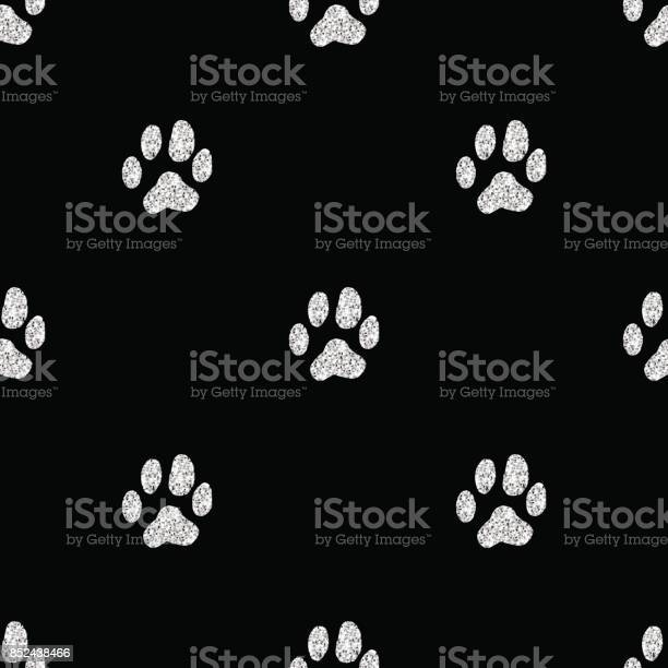 Seamless silver glitter animal track pattern on black background vector id852438466?b=1&k=6&m=852438466&s=612x612&h= 2c5pio3mn67s0rubh5og klhpaakaqz cyfwa0alag=