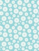 Seamless Simple Daisy Polka Repeat Pattern