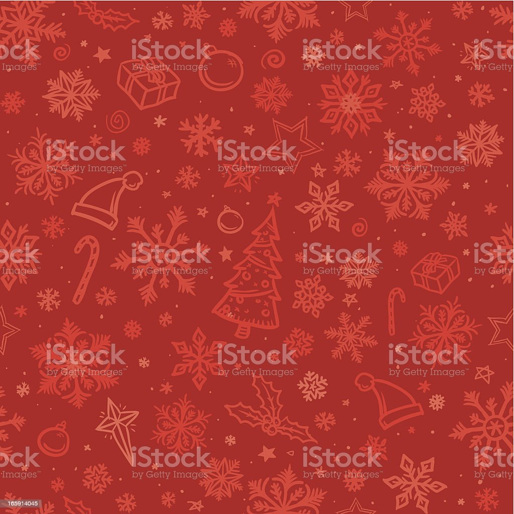 Seamless sketched christmas background vector art illustration