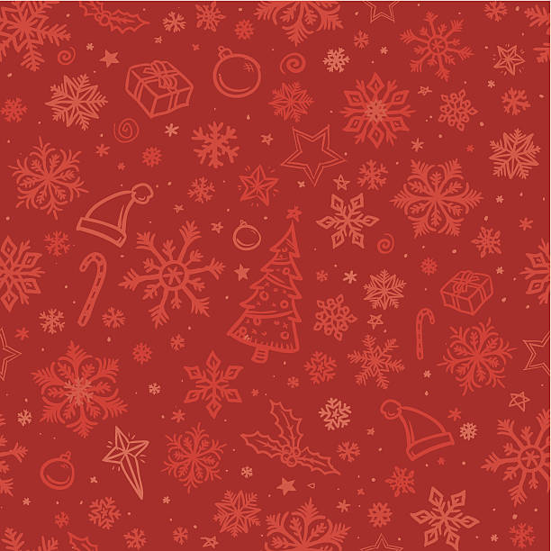 Seamless sketched christmas background Sketched christmas background with snowflakes and various other festive designs christmas fun stock illustrations