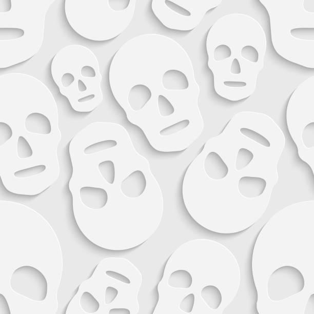 Nahtlose Schädel Muster – Vektorgrafik