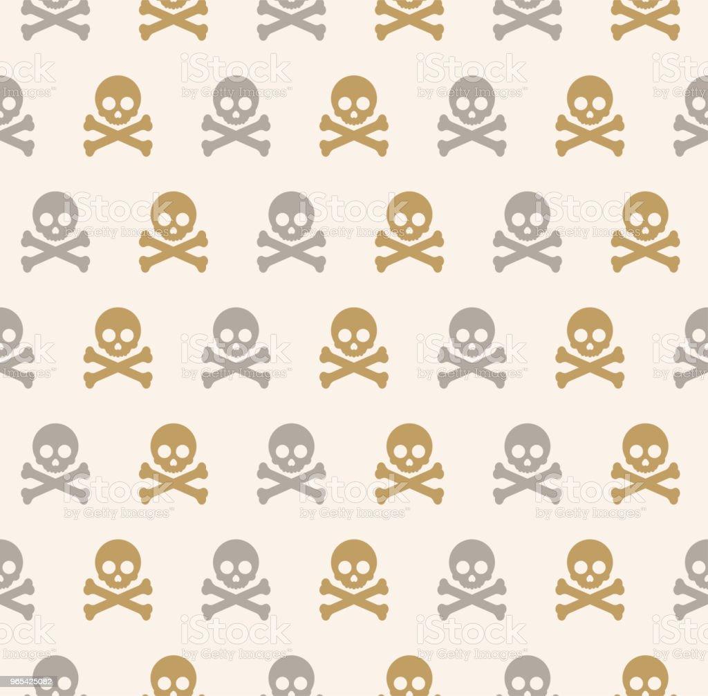 Seamless Skull Pattern royalty-free seamless skull pattern stock vector art & more images of bone