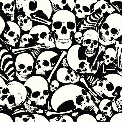 Seamless skull wallpaper background