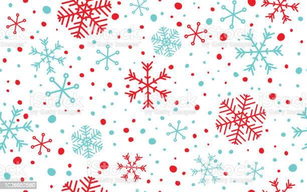 Nahtlose Schneeflocken Hintergrund Stock Vektor Art und mehr Bilder von Abstrakt