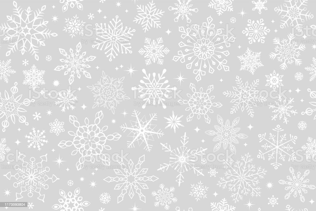 Бесшовный фон снежинки - Векторная графика Абстрактный роялти-фри