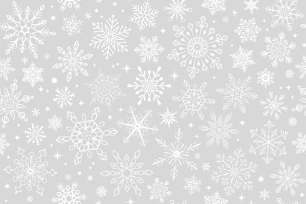 Seamless snowflake background Seamless snowflake background christmas backgrounds stock illustrations