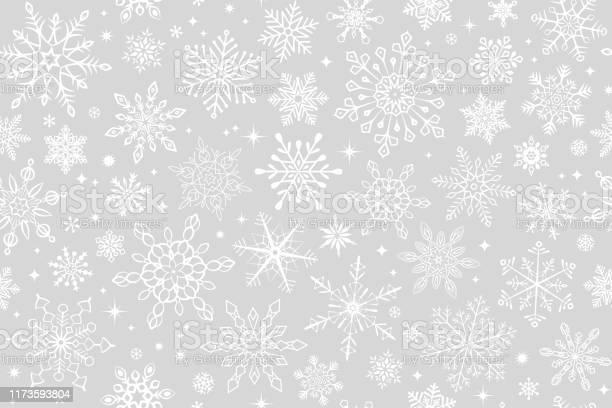 Бесшовный Фон Снежинки — стоковая векторная графика и другие изображения на тему Абстрактный