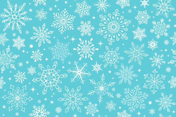 Seamless snowflake background vector art illustration