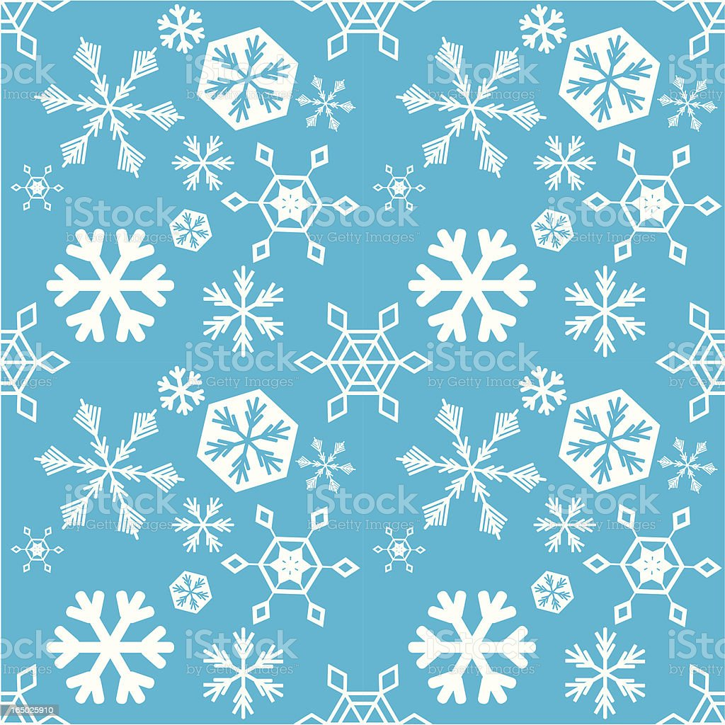 Seamless Snowflake Background ( Vector ) royalty-free seamless snowflake background stock vector art & more images of backgrounds