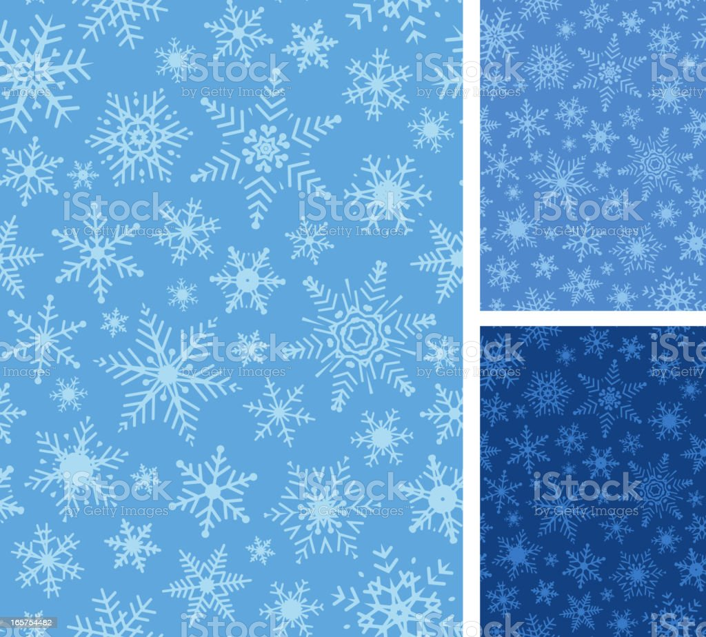 Seamless Snowflake Background royalty-free stock vector art