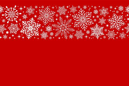 Seamless snowflake border