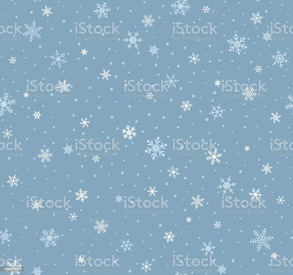 Nahtlose Schneeflocken-Muster - Lizenzfrei Altertümlich Vektorgrafik