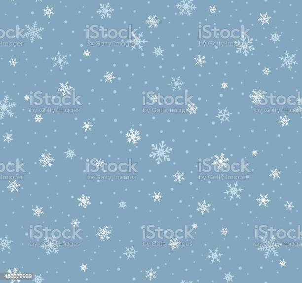 Бесшовный Узор В Виде Снежинок — стоковая векторная графика и другие изображения на тему Бессмысленный рисунок