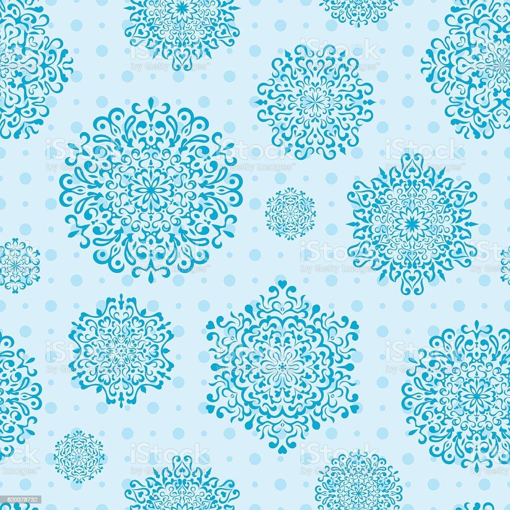 Sem costura padrão de Floco de Neve sem costura padrão de floco de neve - arte vetorial de stock e mais imagens de abstrato royalty-free
