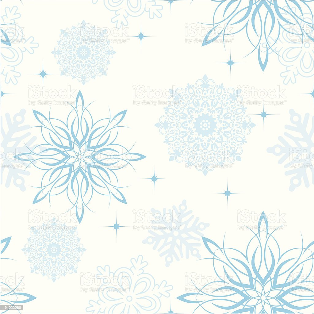 Seamless Snowflake Wallpaper royalty-free stock vector art