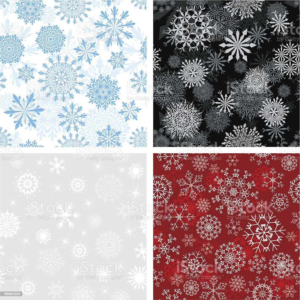seamless snowflakes background royalty-free seamless snowflakes background stock vector art & more images of backgrounds