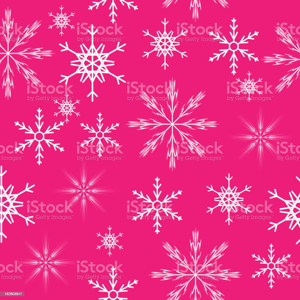 seamless snowflakes background.  Vector illustration royalty-free stock vector art