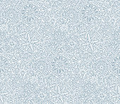 Vector Seamless Snowflakes Doodles Background.