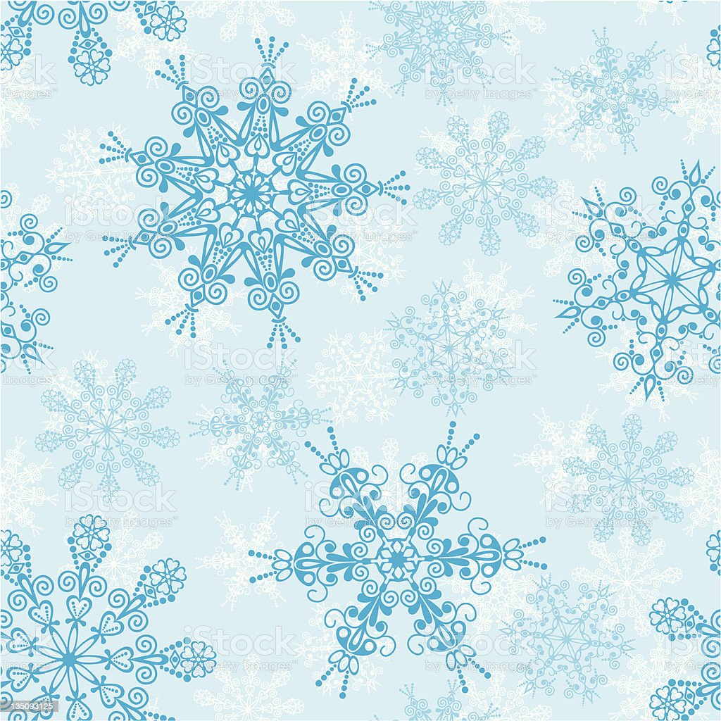 Seamless snowflakes pattern royalty-free stock vector art