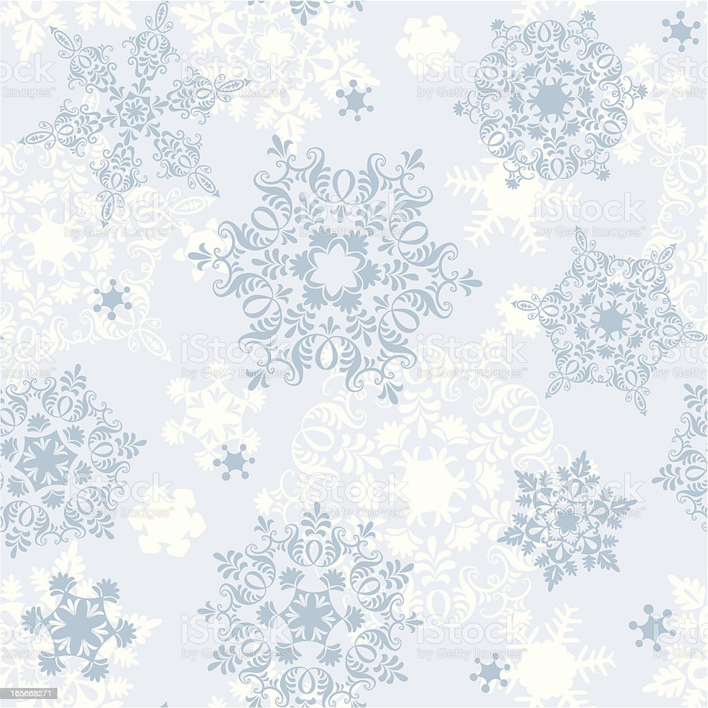 seamless snowflakes royalty-free stock vector art