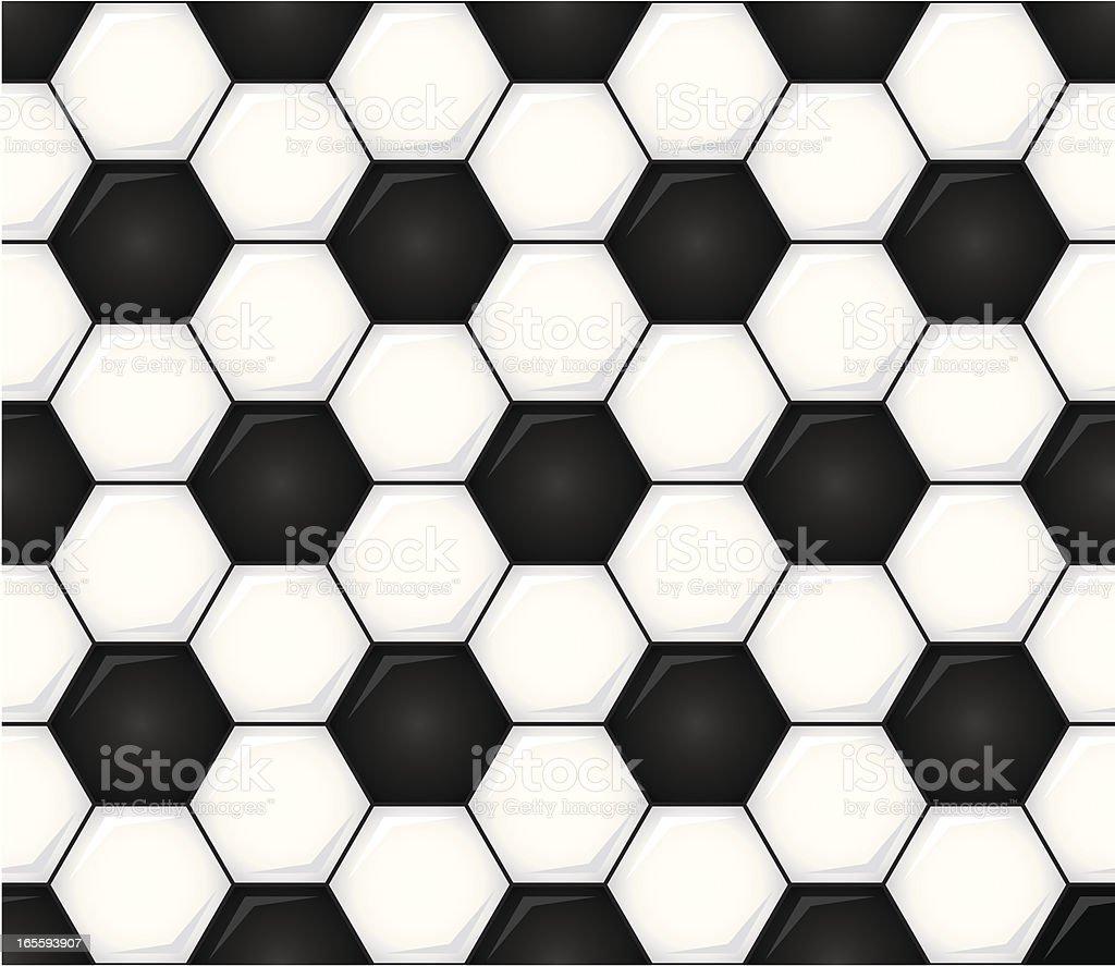 Seamless Soccer Ball Vector Illustration