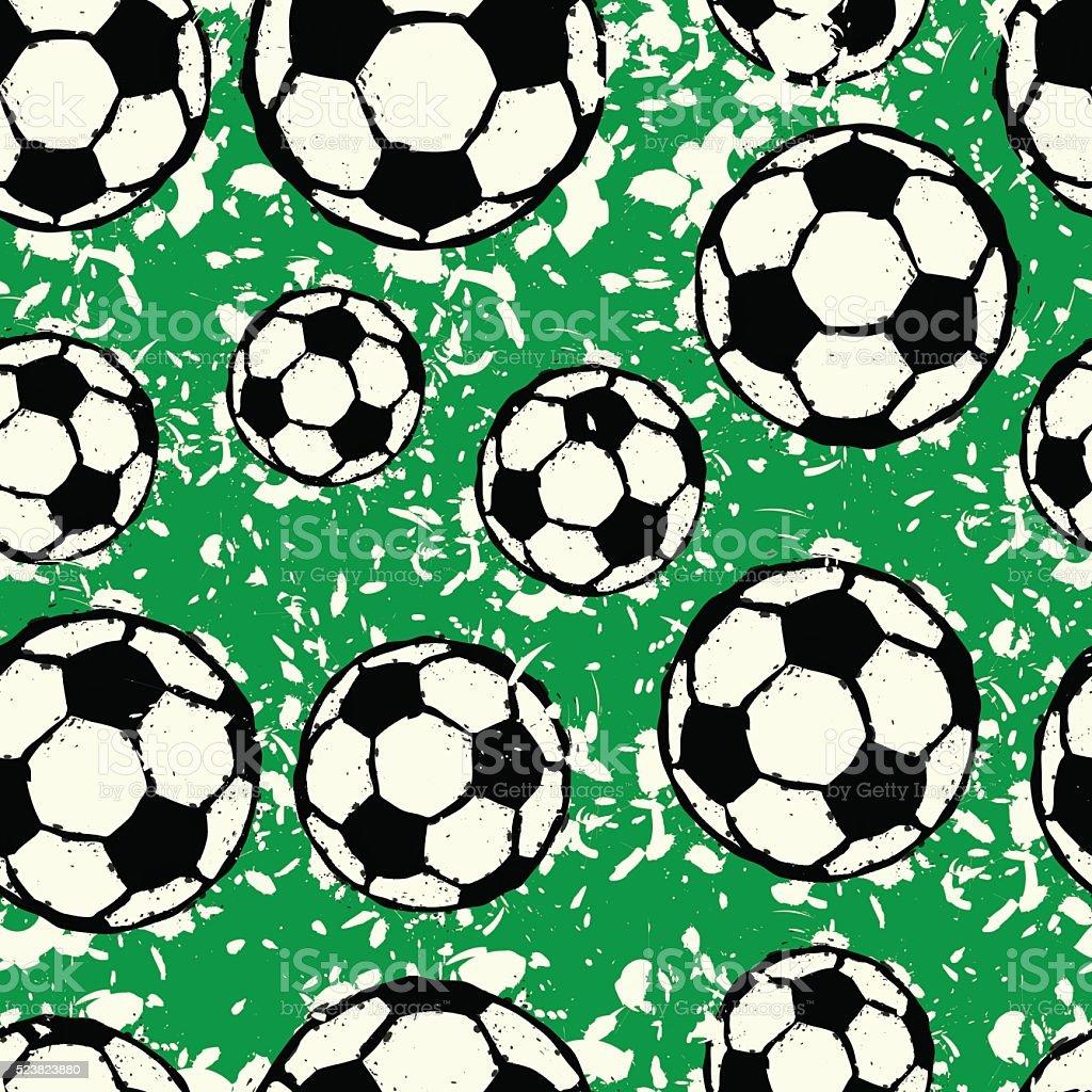 Nahtlose Fußball-Muster – Vektorgrafik