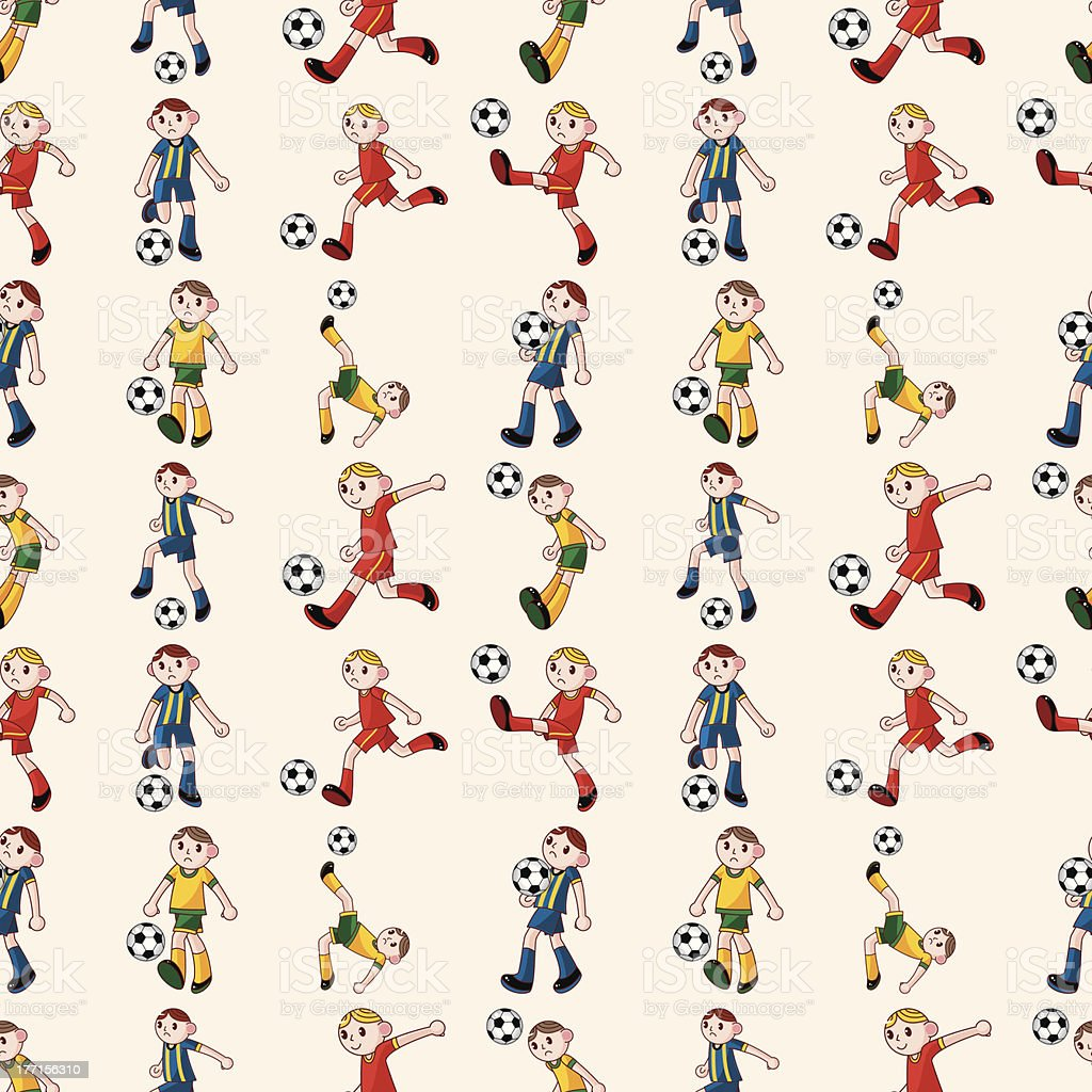 seamless soccer player pattern royalty-free stock vector art