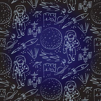 Seamless space pattern