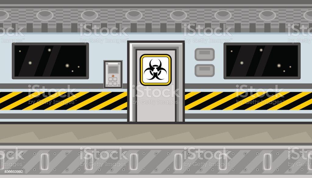 Interior de nave espacial sin problemas con la puerta y la for Puerta nave espacial