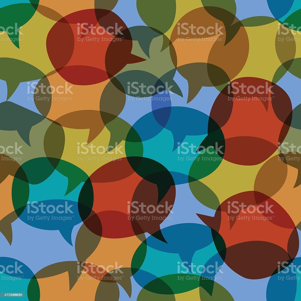 Seamless speech bubbles vector background royalty-free stock vector art