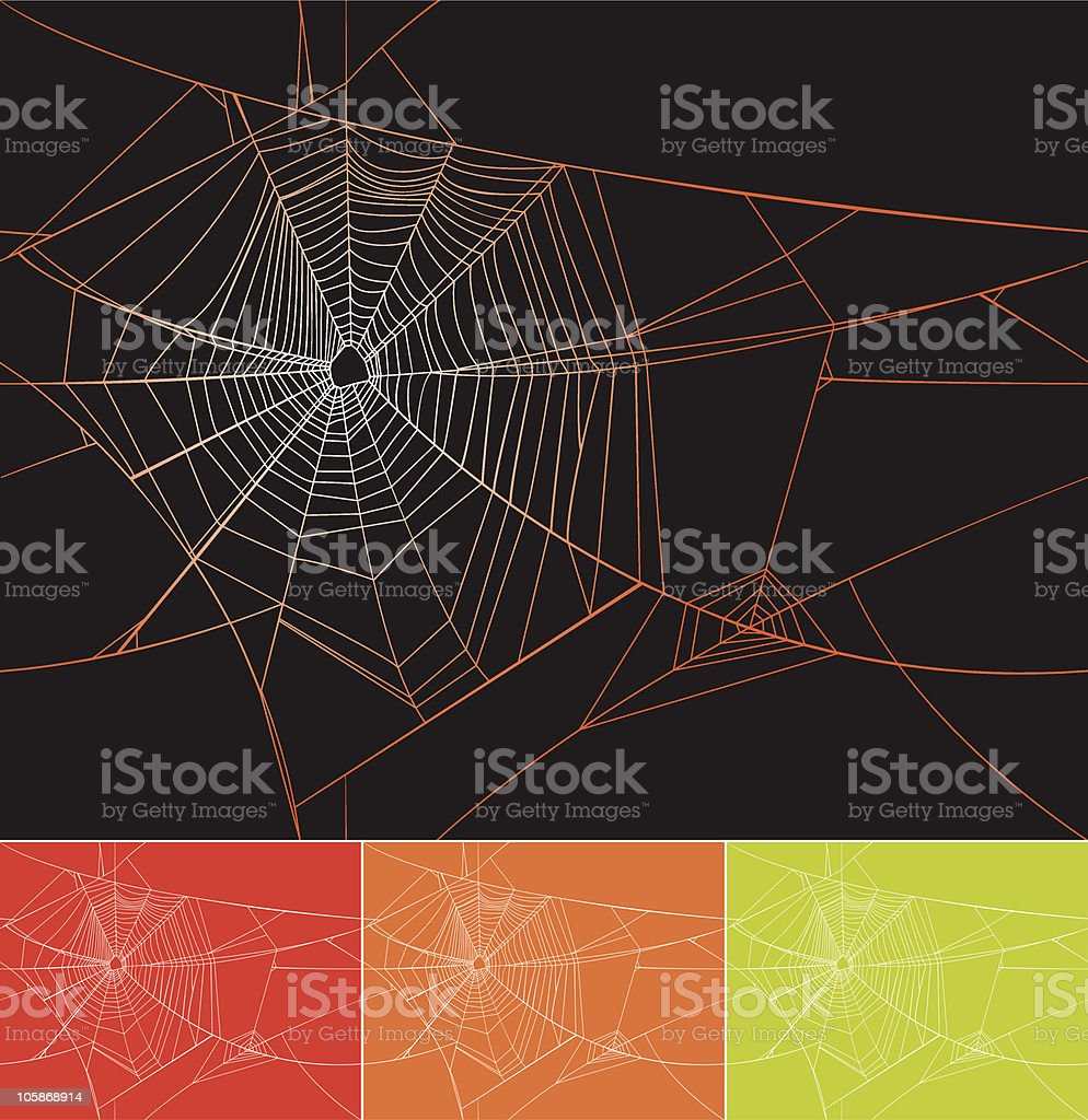 Seamless Spiderweb Pattern royalty-free stock vector art