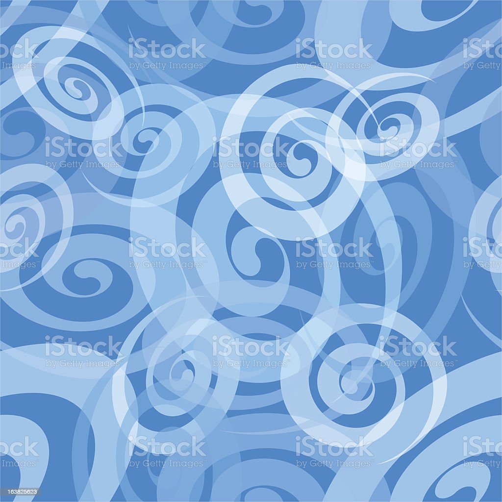Seamless Spiral Pattern royalty-free stock vector art