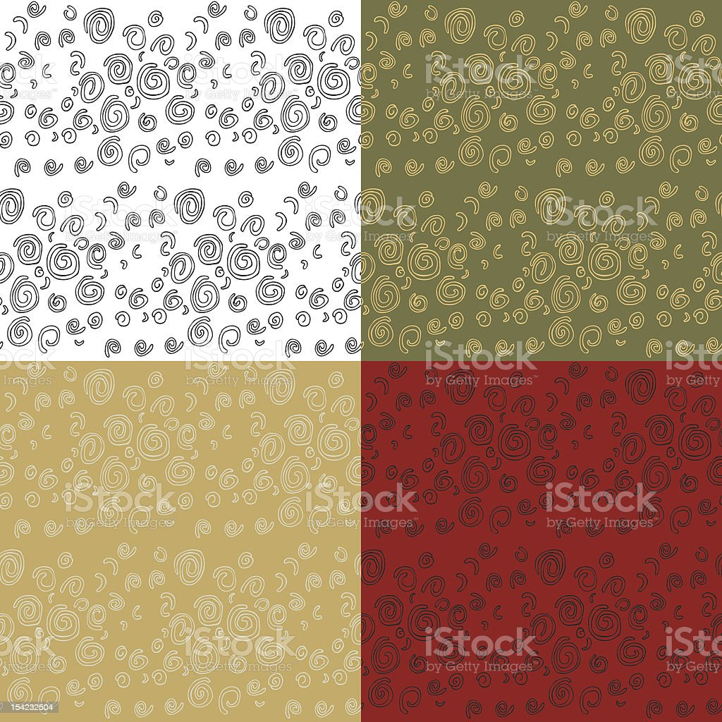 Seamless Spiral Patterns royalty-free seamless spiral patterns stock vector art & more images of art