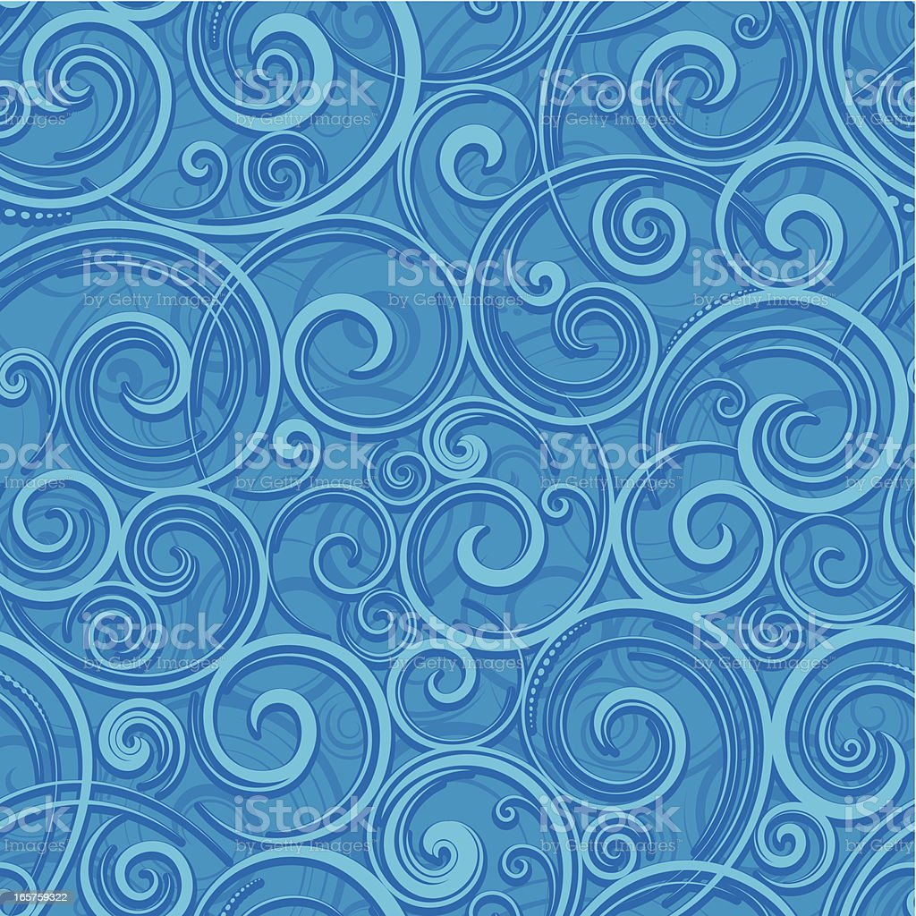 Seamless spiral wallpaper background royalty-free stock vector art