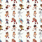 seamless Sports pattern