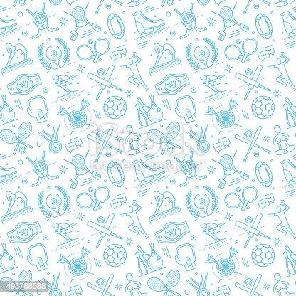 sports motif designs seamless sports pattern stock vector art 493768588 istock