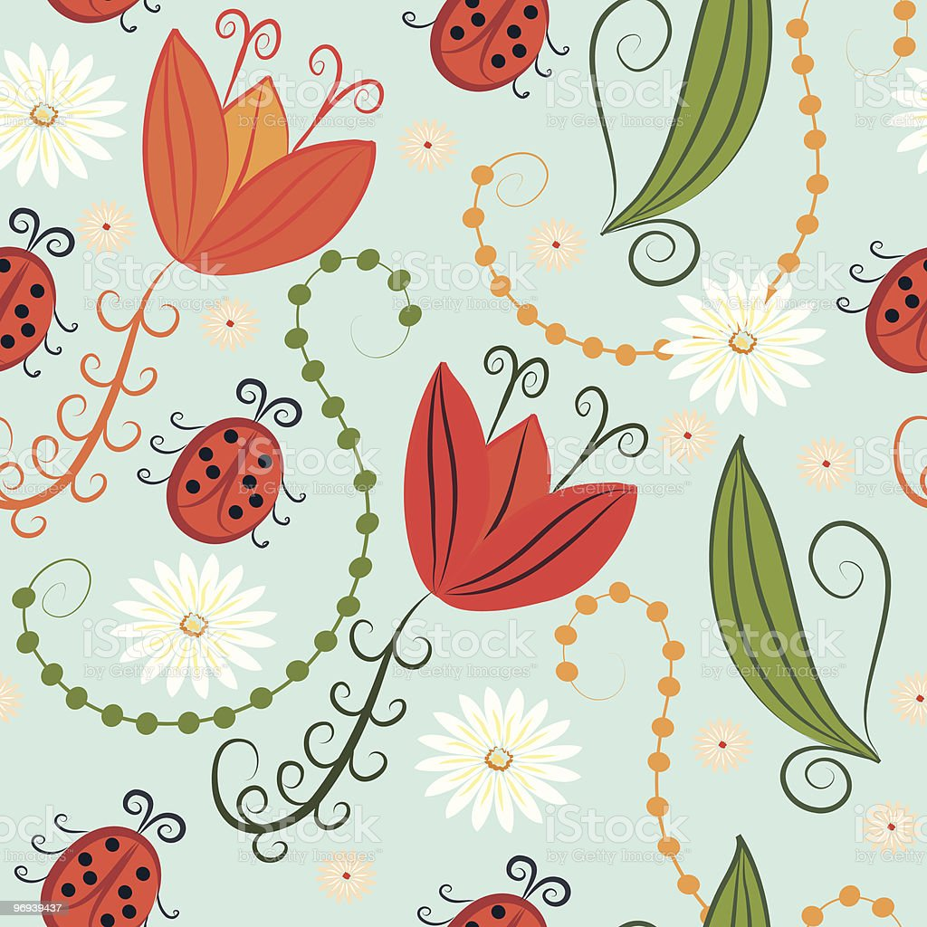 Seamless spring pattern royalty-free seamless spring pattern stock vector art & more images of backgrounds