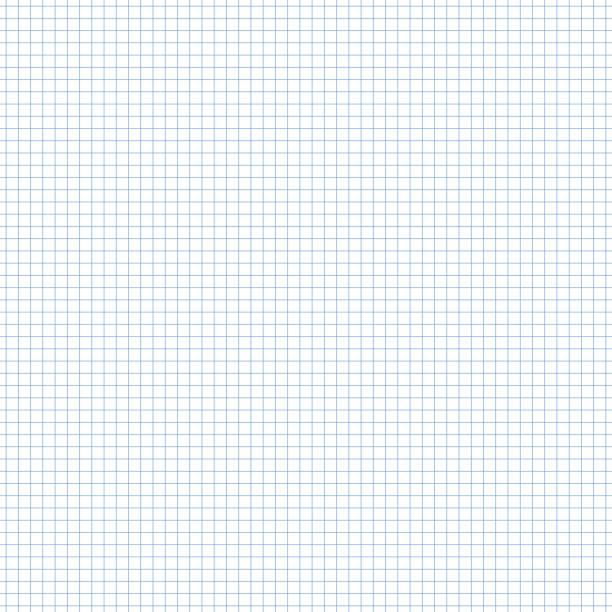 nahtlose quadratischen raster millimeterpapier muster in blau - geometriestunde grafiken stock-grafiken, -clipart, -cartoons und -symbole