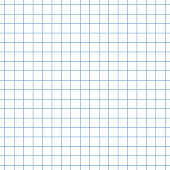 Seamless square grid graph paper pattern in blue