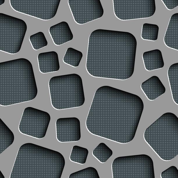 Nahtloses quadratisches Muster – Vektorgrafik