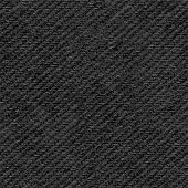 A piece of square black textile in vector. Amazing high quality file with realistic mapping of the material structure.  Clearly visible weaving. Zoom to see the details!  SEAMLESS PATTERN - duplicate it vertically and horizontally to get unlimited area. VECTOR FILE - enlarge without lost the quality!  Beautiful background for your graphic design. Great pattern for architectural / indoor visualizations.