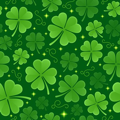 Seamless St. Patrick's Day Background Pattern